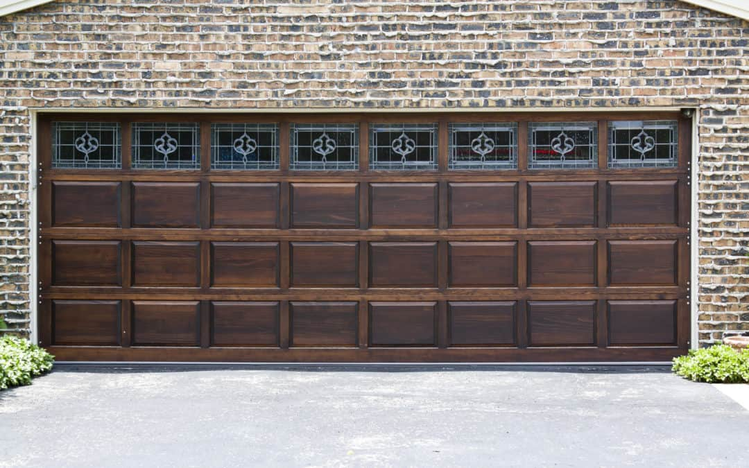 classic wood garage with custom windows