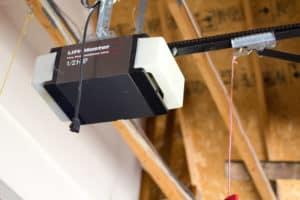 Liftmaster garage door opener on a garage door